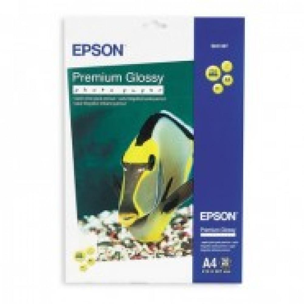 Бумага для цв.струй.печ. EPSON s041287 (А4,255г,глянцевая) пачка 20л.