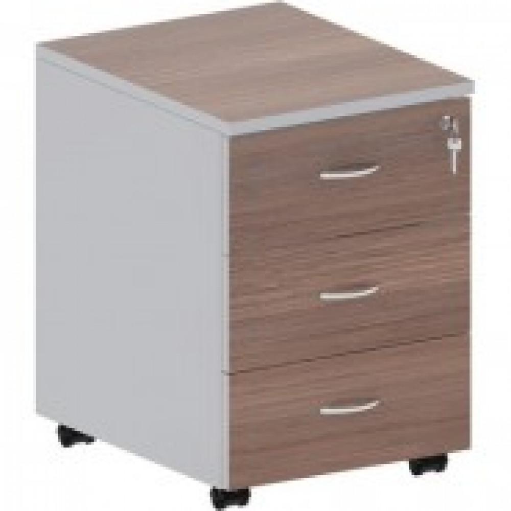 Мебель Easy St Тумба выкатная 904005 т.дуб/сер. (570) 3 ящ.