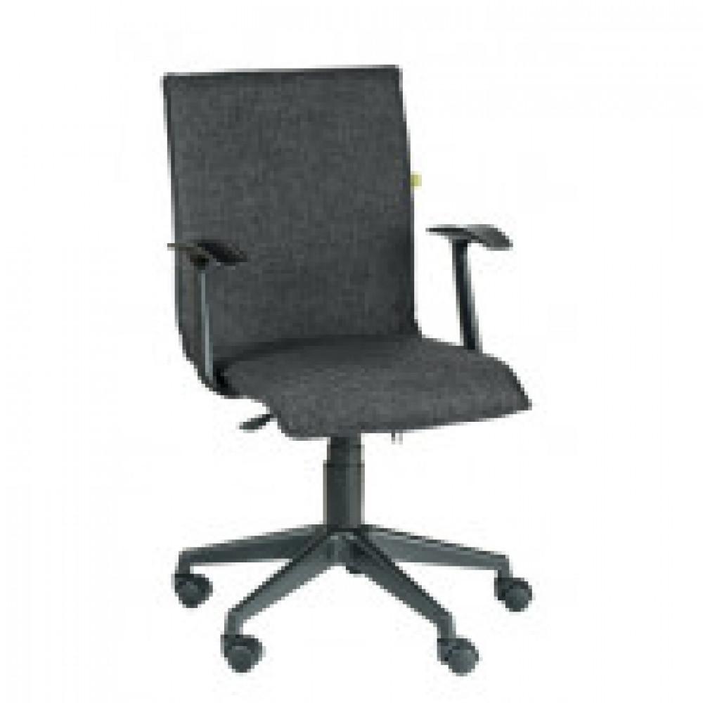 Кресло OL_ оператора Евро, ткань серая (меланж 6)