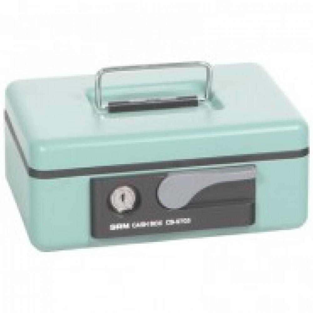 Метал.Мебель SHUH RU CB-9703N кэшбокс зеленый, ключ.з 197х154х80