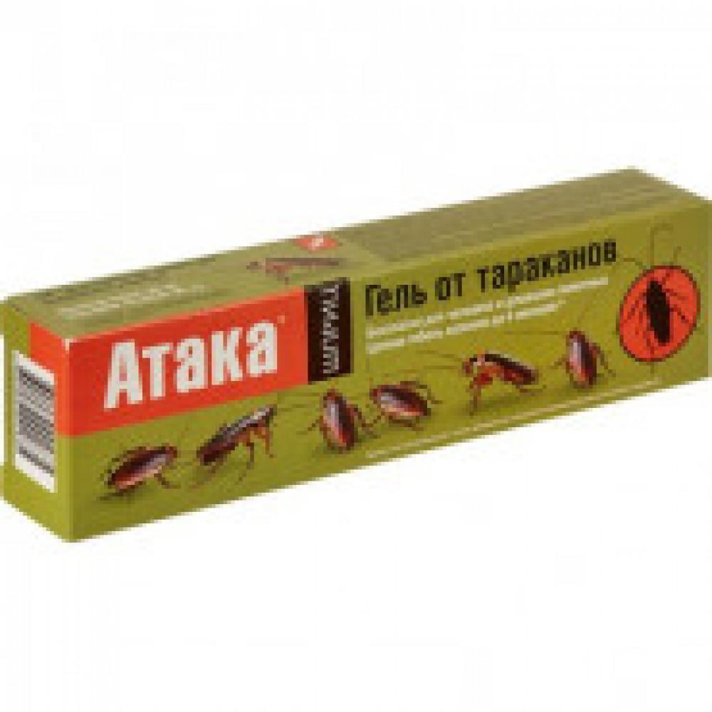 Средства от насекомых АТАКА гель от тараканов, шприц, 20 мл