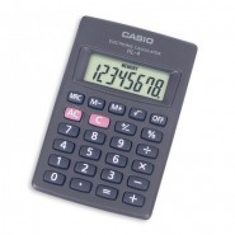 Калькулятор CASIO карман. HL-4А 8 разряд., крупн.диспл. батарей