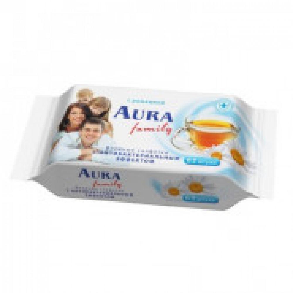 Влажные салфетки освежающие Aura 63 штуки в упаковке