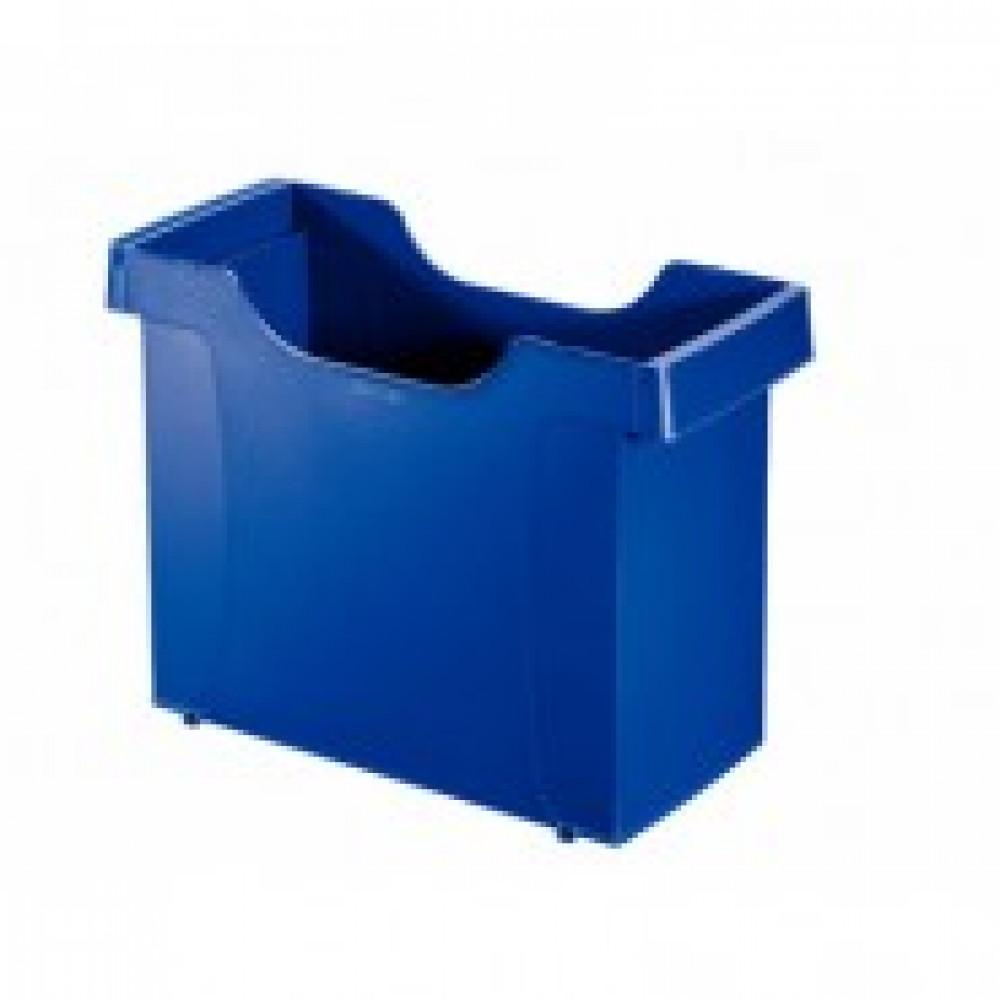 Бокс для подвесных папок Leitz Plus А4 пластиковый синий (нескладной)