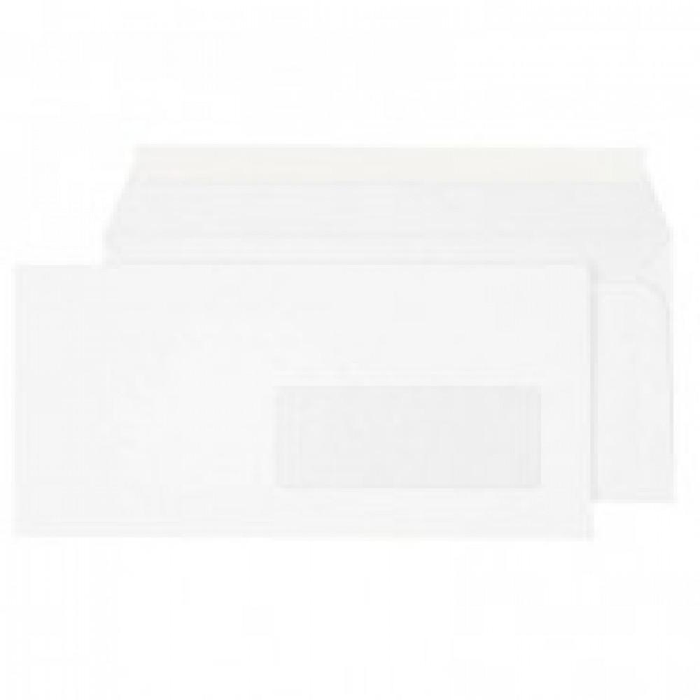 Конверт Ecopost Е65 80 г/кв.м белый стрип с правым окном (1000 штук в упаковке)