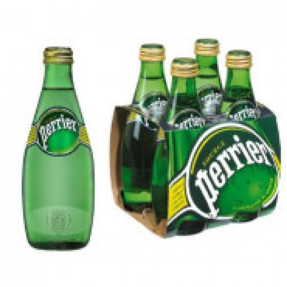 Вода минеральная Perrier стекл.бут.0,33л газ. 4шт/уп