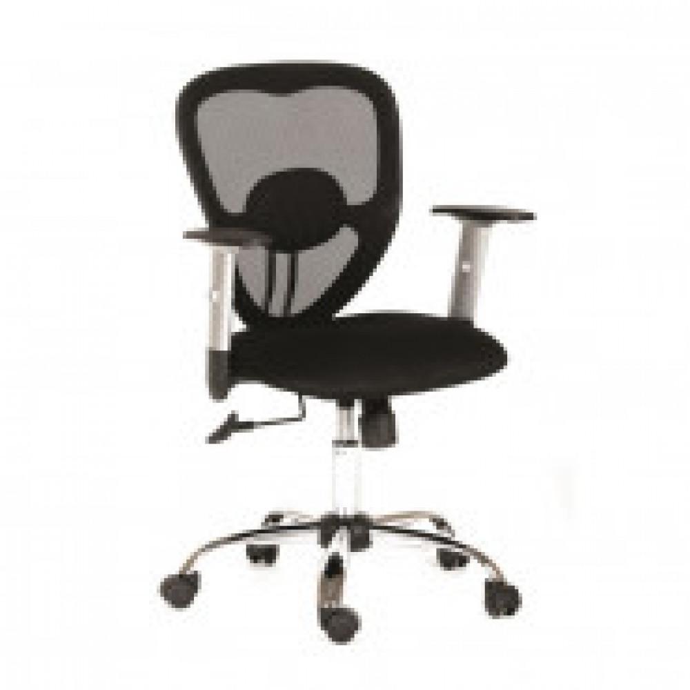 Кресло VT_CH451 ткань черная (tw11), крестовина хром