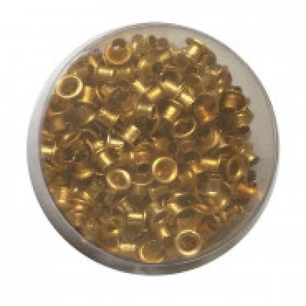 Дырокол Attache люверсы 250 шт./уп, диаметр= 4,8, золотистые