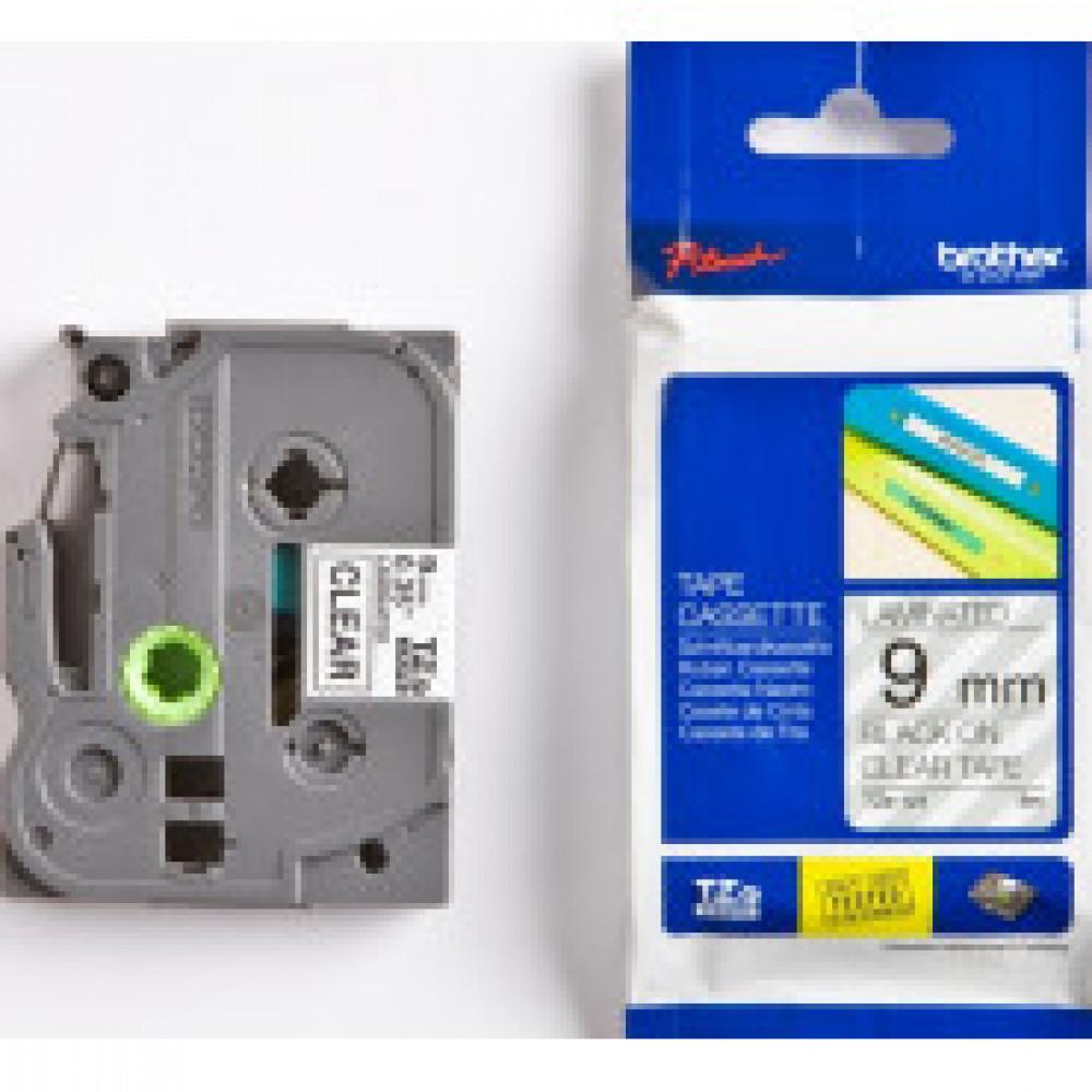 Картридж к этикет-принтеру Brother TZe-121 9ммх8м чер/прозр лам дляP-Touch