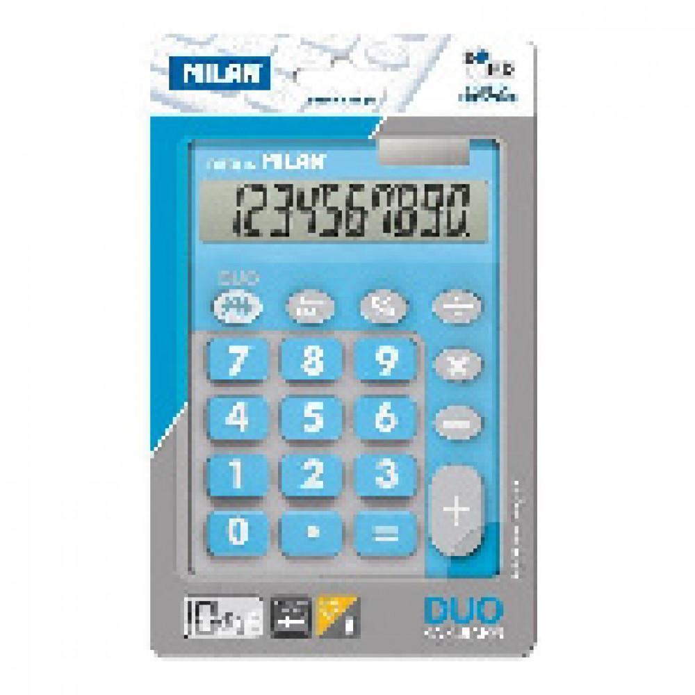 Калькулятор Milan 10-разряд, в чехле, двойное питание, голубой 150610TDBBL