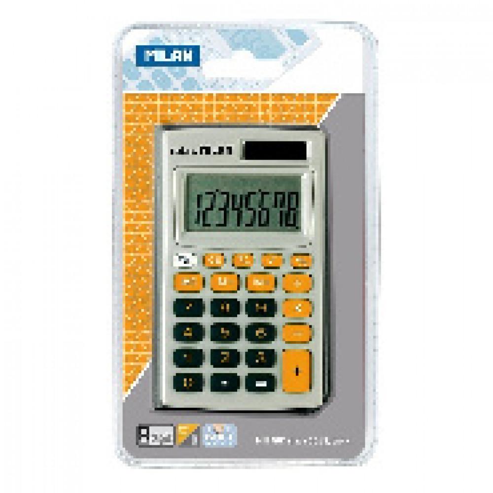 Калькулятор Milan 8-разр,в чехле, двойное питание, серо-оранжевый 150208OBL