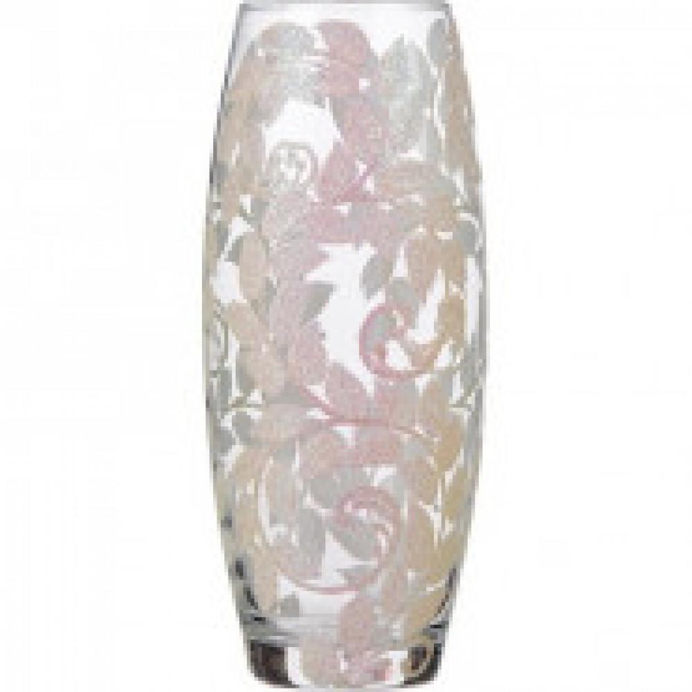 Ваза Белый узор стекло белая высота изделия 25 см