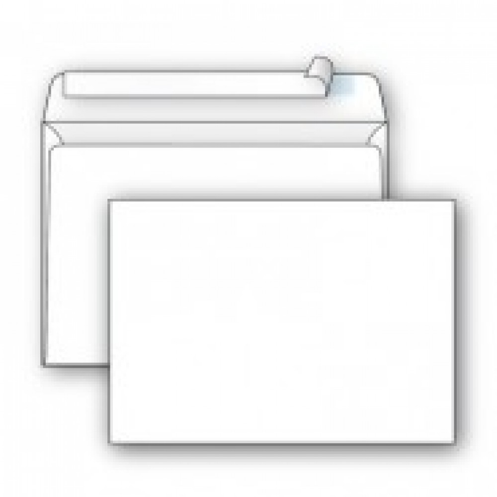 Конверт Ecopost С5 80 г/кв.м белый стрип (1000 штук в упаковке)