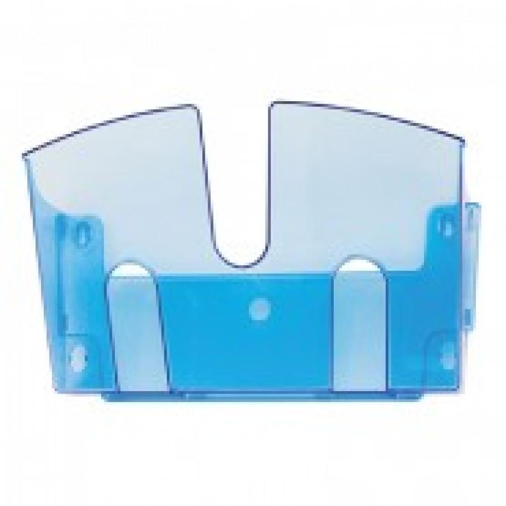 Дисплей настенный Attache 1 отделение А4 голубой пластик