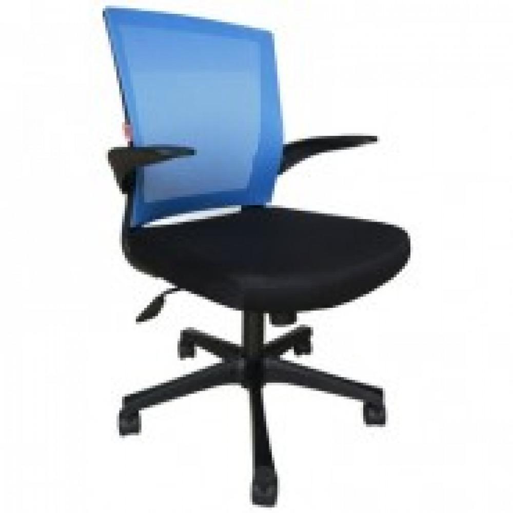 Кресло BN_Cm_EChair- 316 TTW net пласт.черн.,ткань черн/сетка синяя