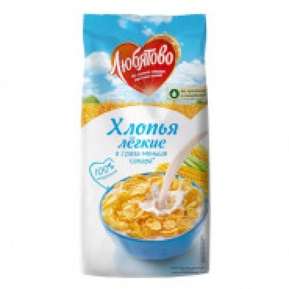 Завтрак хлопья кукурузные легкие Любятово, 270г