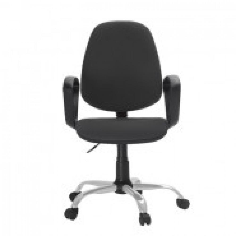 Кресло FA_EChair-222 PC ткань серая ТК3, Silver