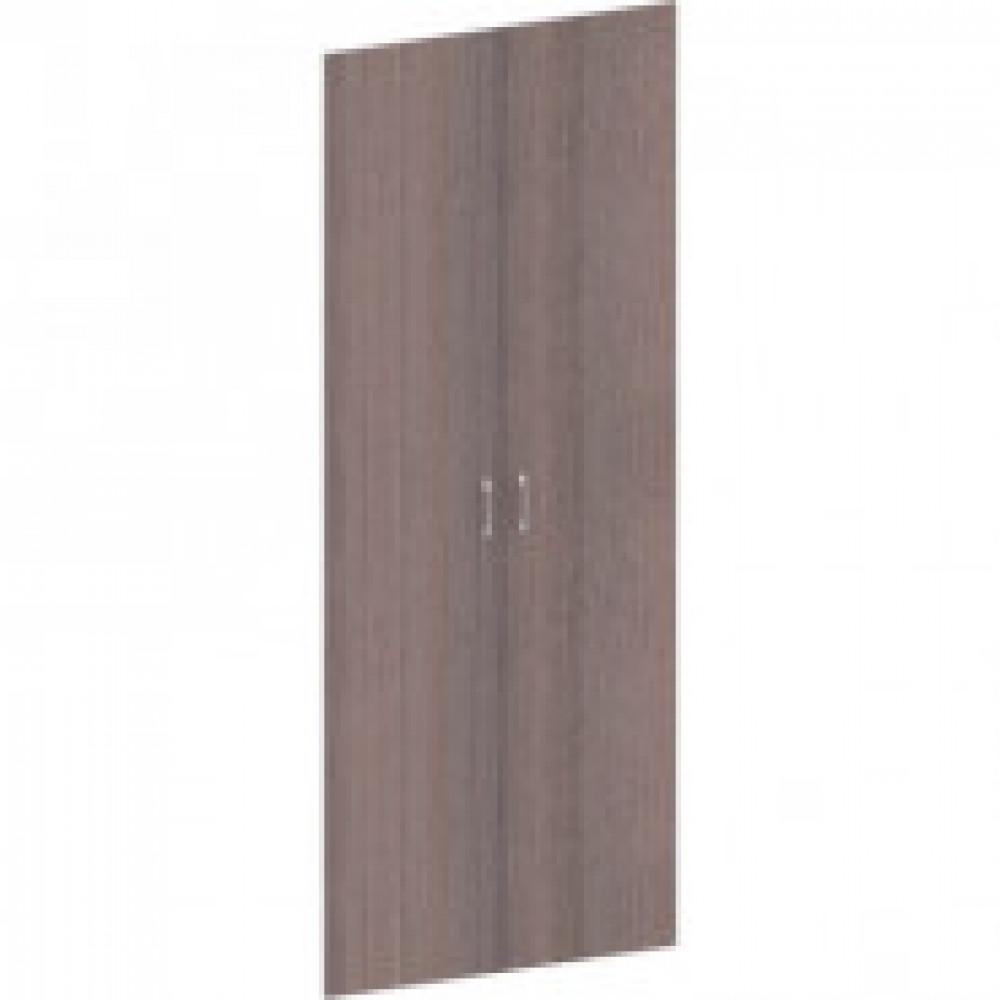 Двери высокие Easy Director (2 штуки, дуб шамони темный, 844х18х1970 мм)