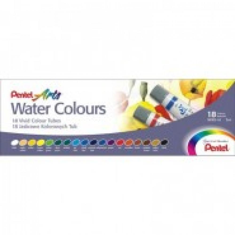 Краски акварель 18цв Pentel Water Colours WFRS-18