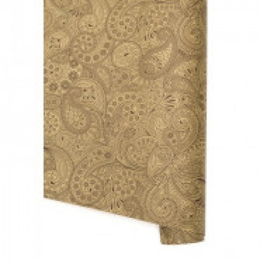 Бумага упаковочная крафт, орнамент, рулон 100х70см, 10 листов 51187