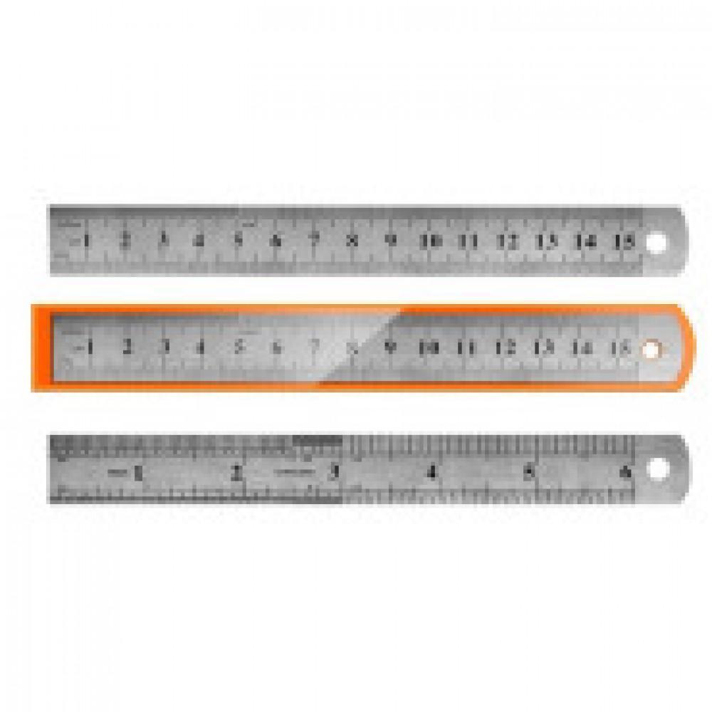 Линейка металлическая 15 см Attache