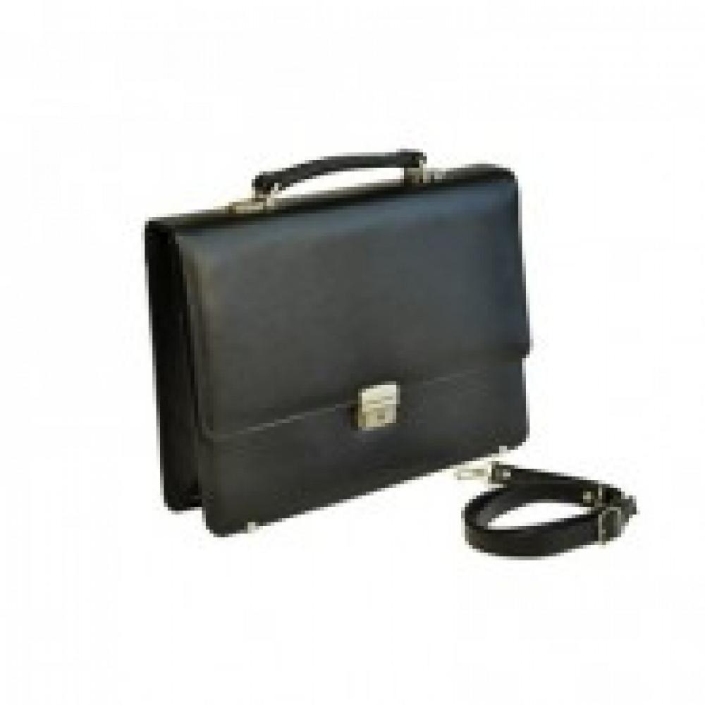 Портфель Grand из натуральной кожи черного цвета 01-057-0713
