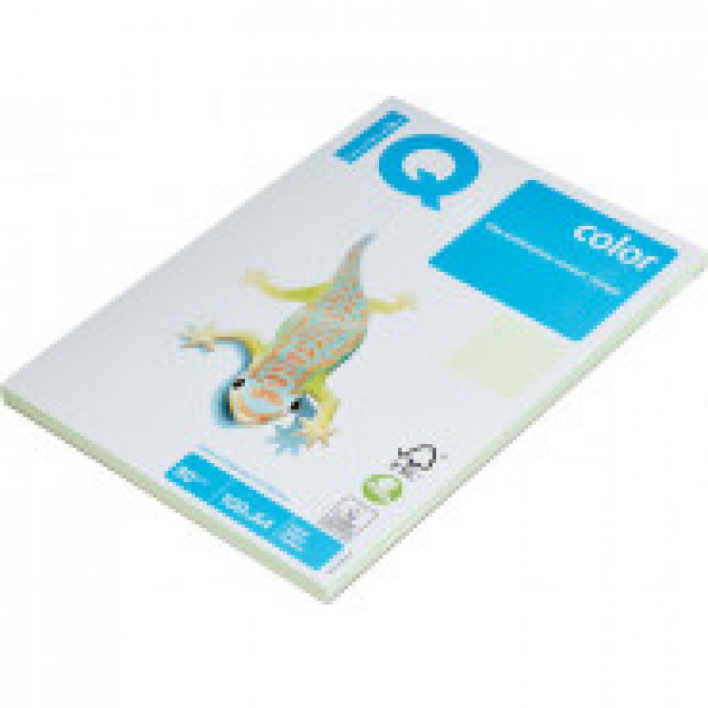 Бумага цветная IQ COLOR (А4,80г,GN27-светло-зеленый) пачка 100л.