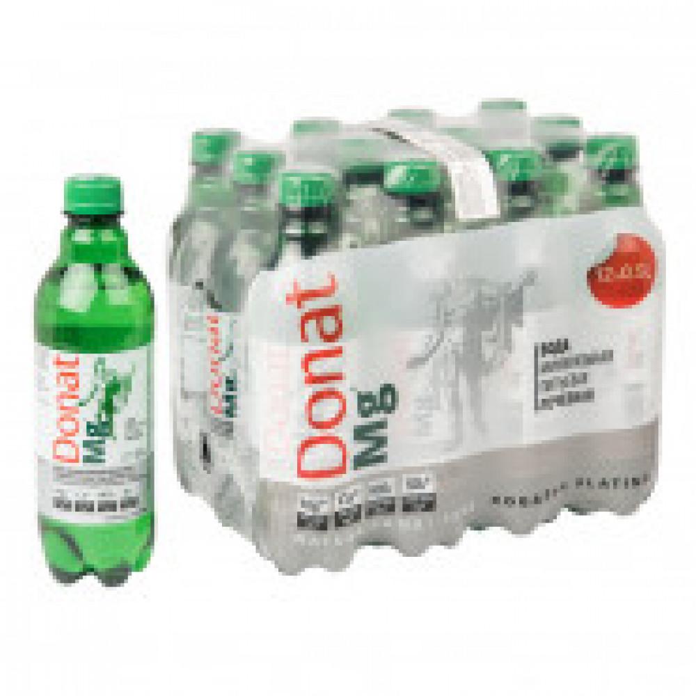 Вода минеральная Donat Mg газированная 0.5 л (12 штук в упаковке)