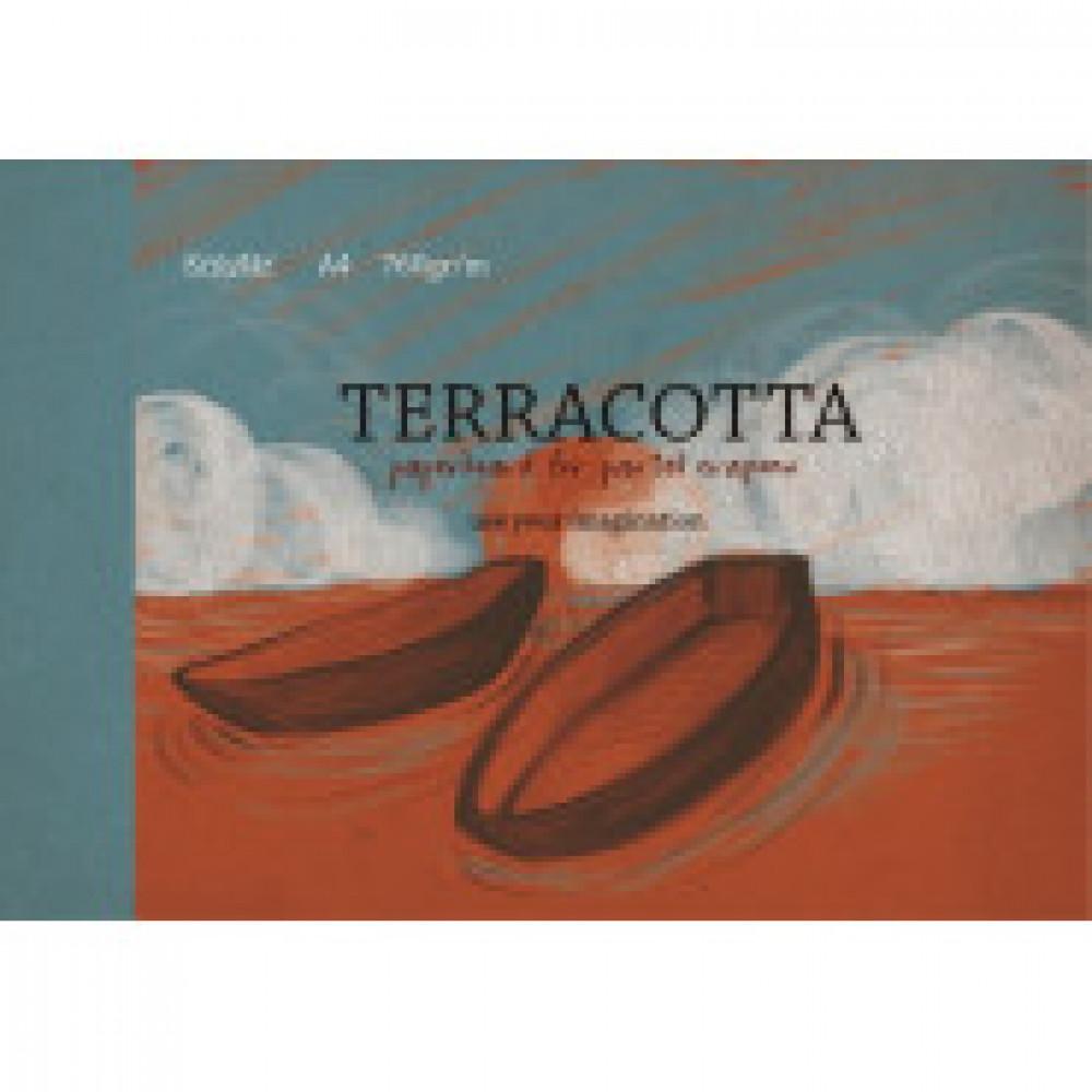 Альбом для рис. пастелью А4 10л, блок тонир. картон терракота 760 гр/м,7606