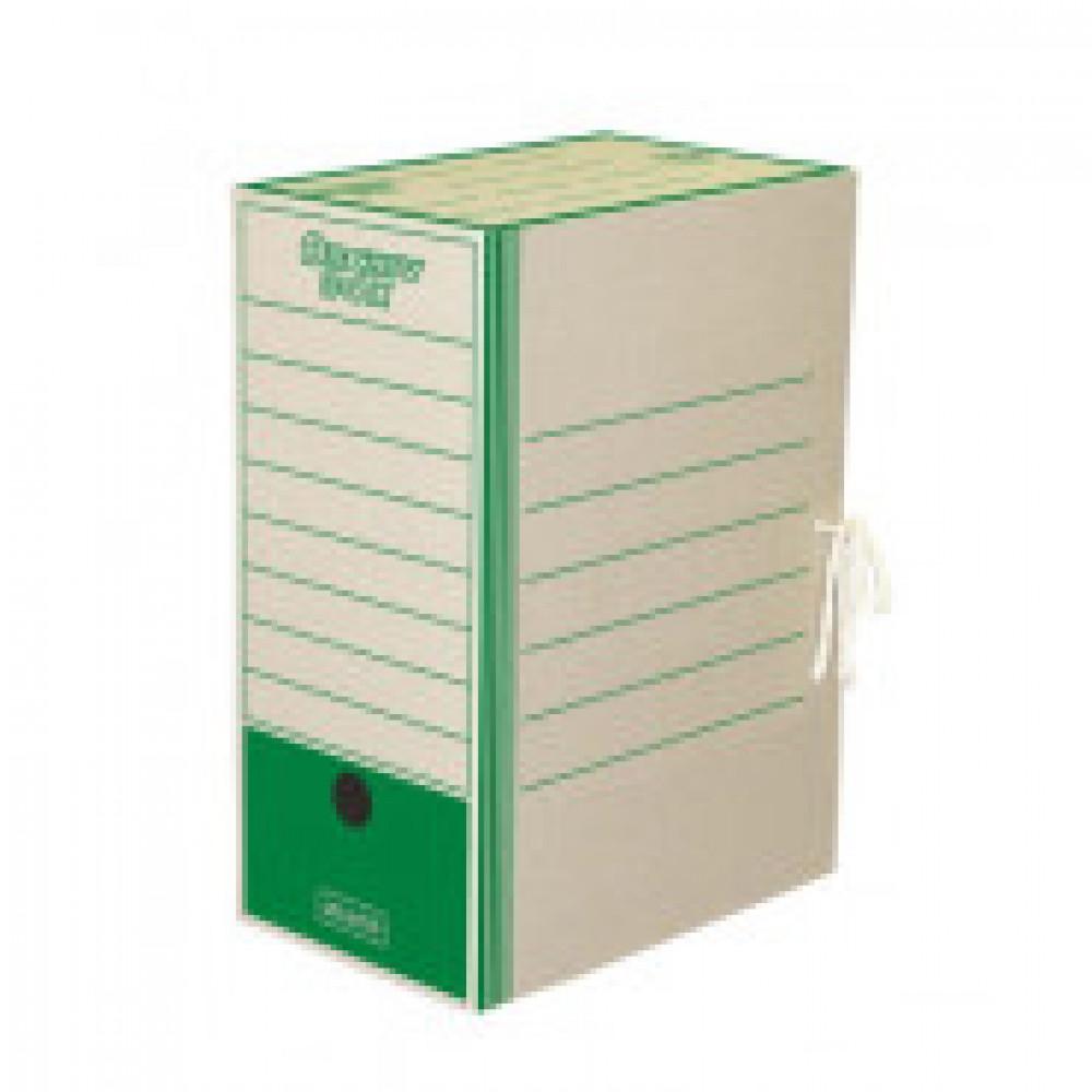 Короб архивный на 2-х завязках Attache 150 мм картон до 1500 листов зеленый