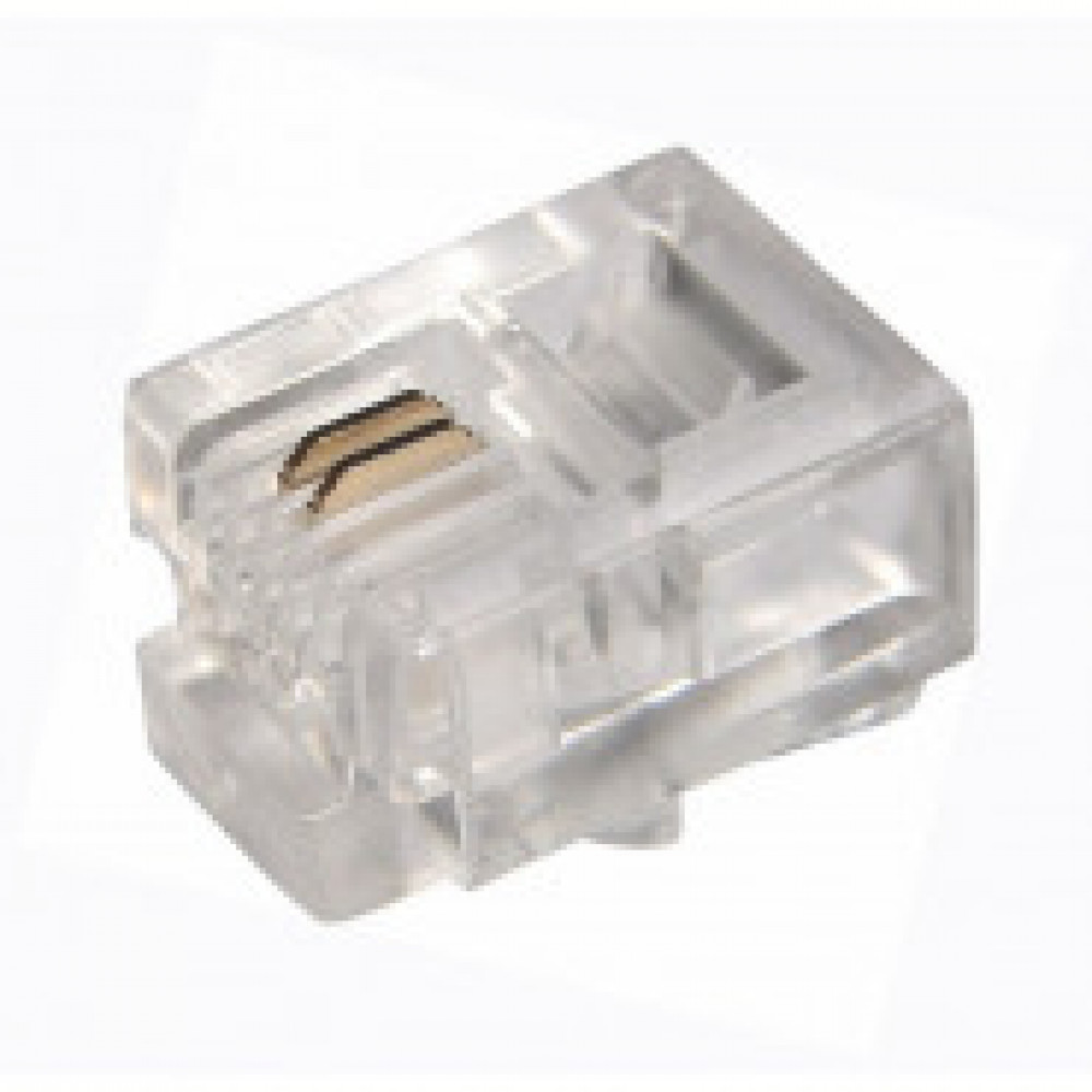 Джек телефонный ProConnect 6P2C 100 шт. (05-1011-3)
