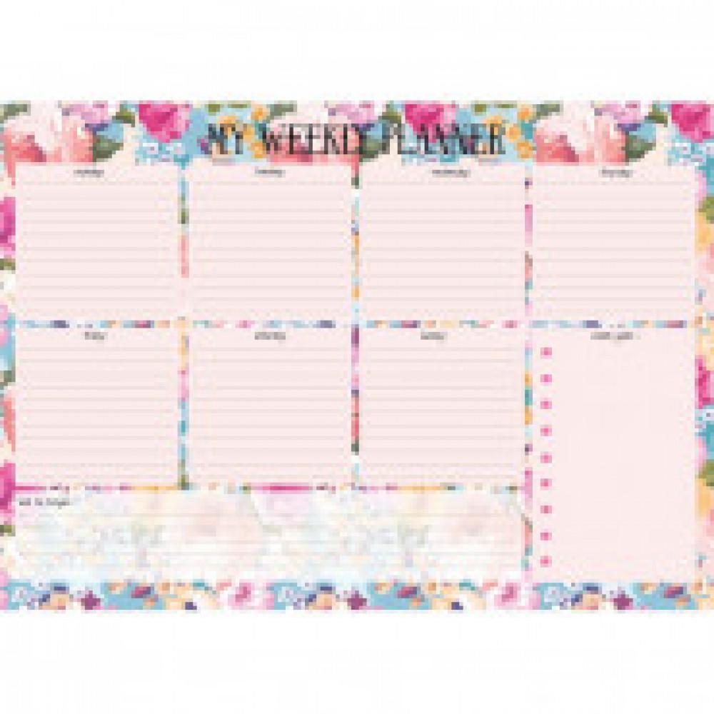 Расписание уроков планер 28л,склейка,недатирован.,297х210мм Blossom N1676