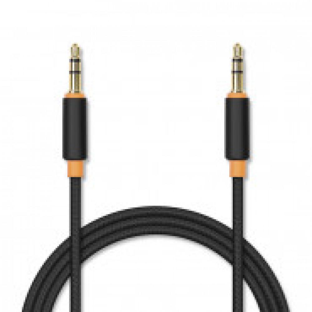 Кабель Jet.A(JA-AC02 2m Black)Аудио  mini Jack-mini Jack  2м