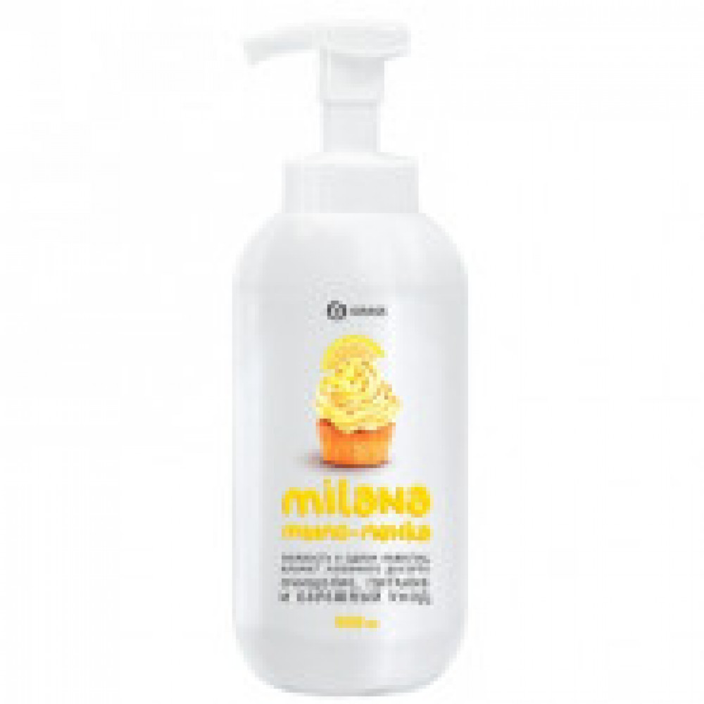 Мыло жидкое Grass MILANA ПЕННОЕ Лимонный Пирог 0,5 л с дозатором