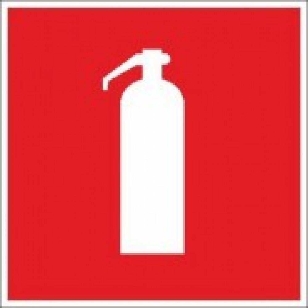 F04 Огнетушитель (пленка ПВХ, ф/люм, 200х200), упаковка 10шт