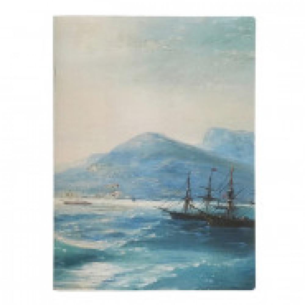 Бизнес-тетрадь Art-Blanc Ayvazovsky А4,48л,194х266мм,клетка,скрепка N1617