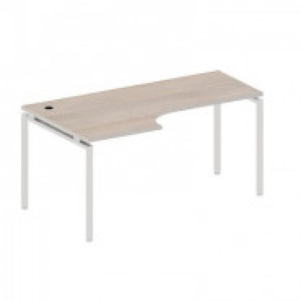 Мебель Easy T Стол лев(72,57,64,71,83) св.дуб(430/720) Ш1600