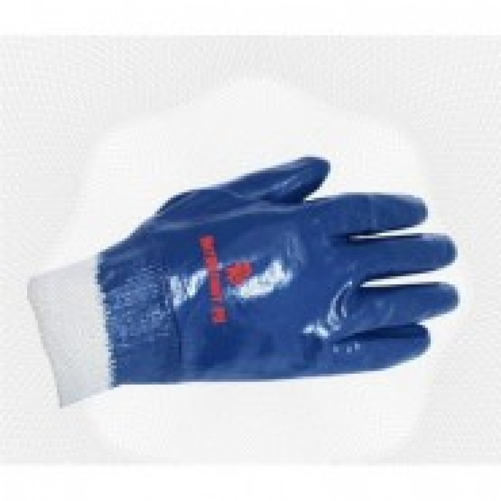 Перчатки защитные Ампаро Нитролайт полное нитриловое покр резинка (448585)