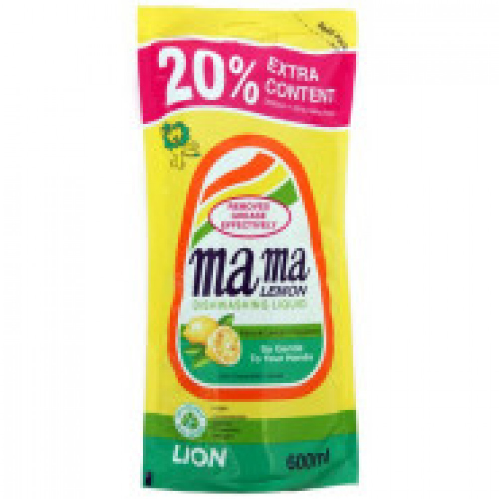 Конц.гель д/мытья посуды Mama Lemon 600 мл(лимон)