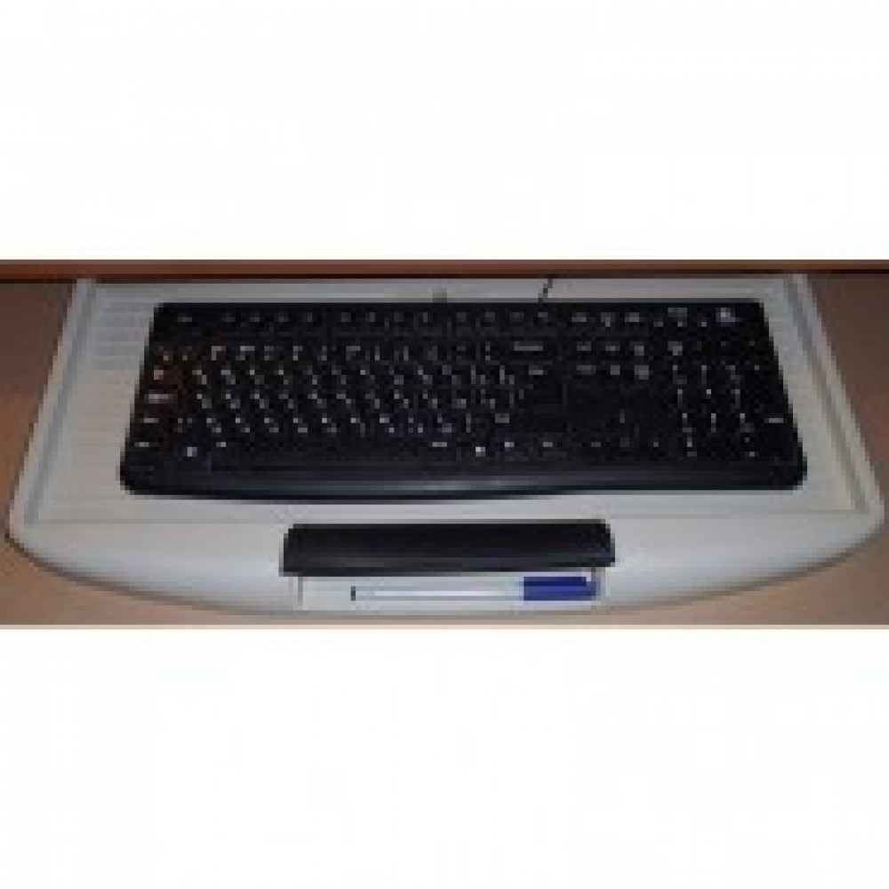 Организатор рабочего места MON_Полка под клавиатуру ПК48 пластик сер.