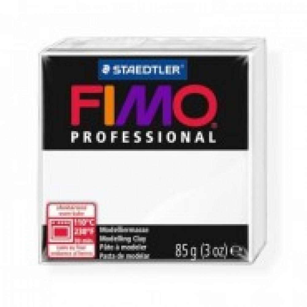 Глина полимерная белая,85гр,запек в печке,FIMO,professional,8004-0