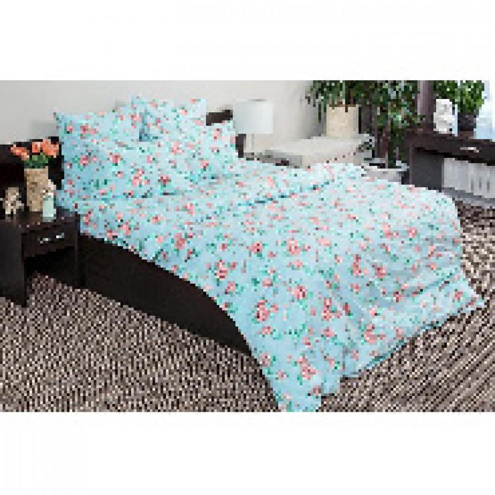 Комплект постельного белья 1,5 сп бязь 120гр/м2 Лили-Марлен голубой