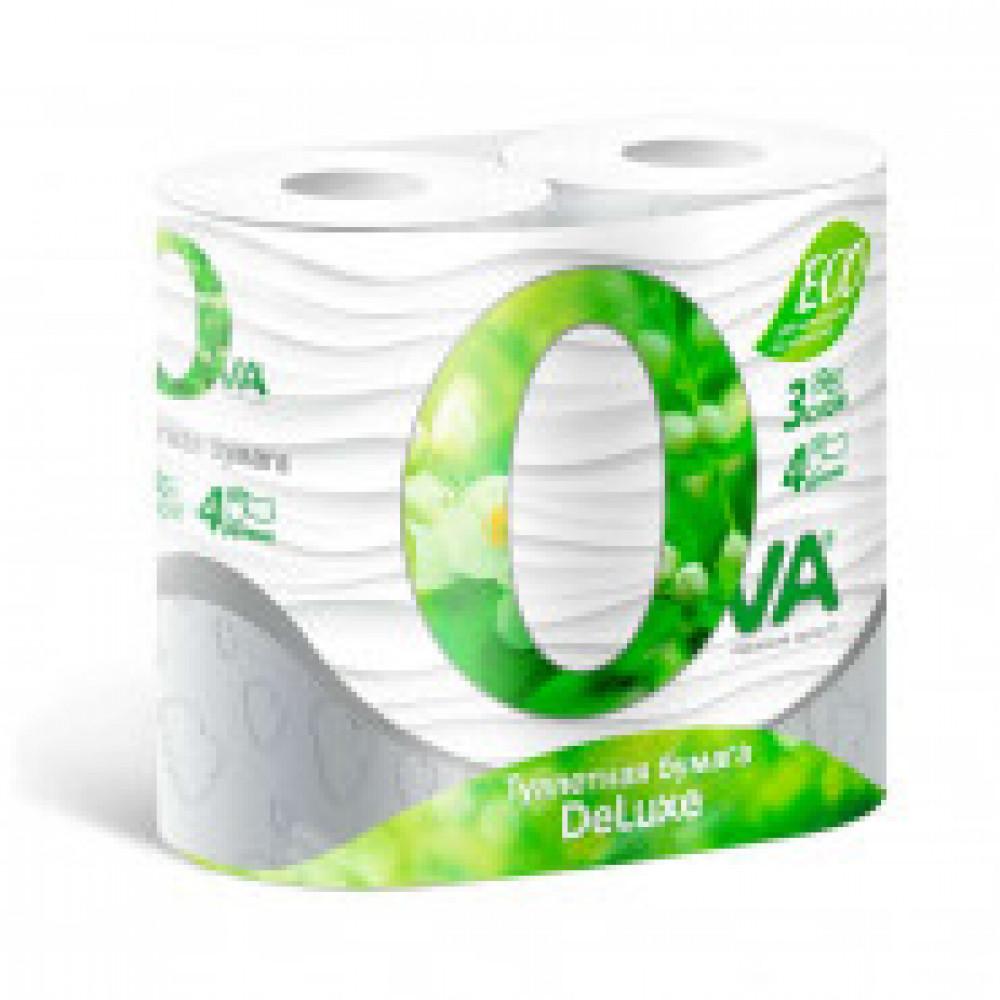 Бумага туалетная OVA 3сл бел цел 150л 4рул/уп