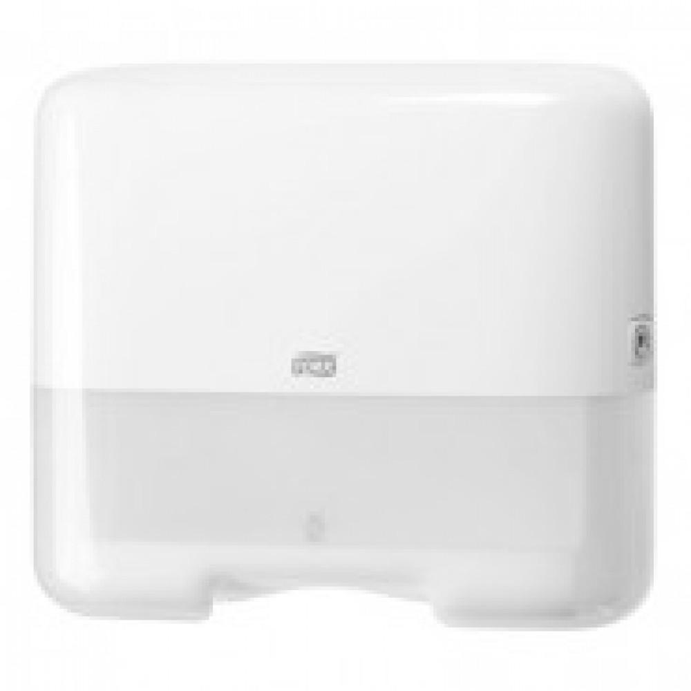 Диспенсер для листовых полотенец Tork Mini Singlefold H3 ZZ/С пластиковый белый (код производителя 553100)