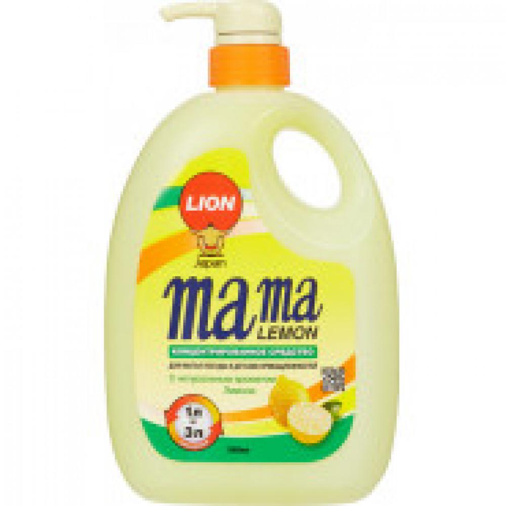 Конц.гель д/мытья посуды Mama Lemon 1000 мл(лимон)