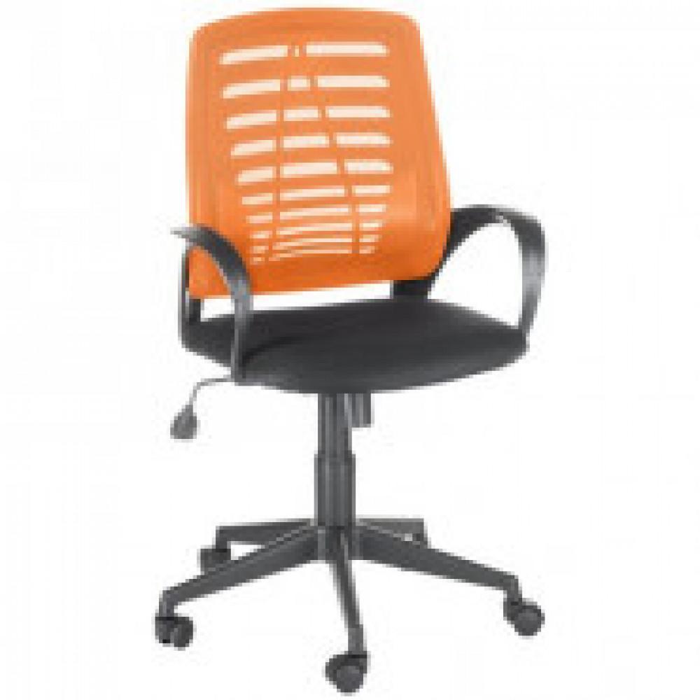 Кресло OL_Ирис сиденье черное TW/спинка оранжевая TW