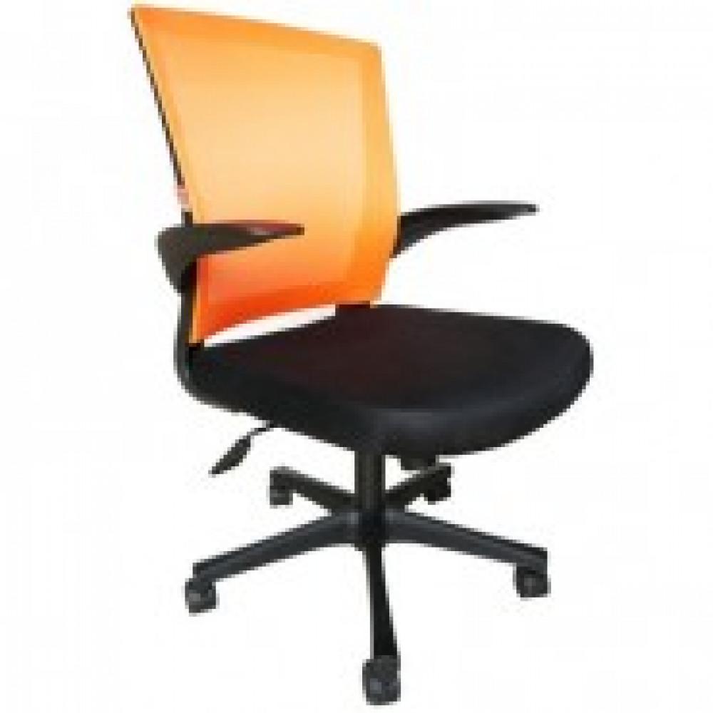 Кресло BN_Cm_EChair- 316 TTW net пласт.черн.,ткань черн/сетка оранж