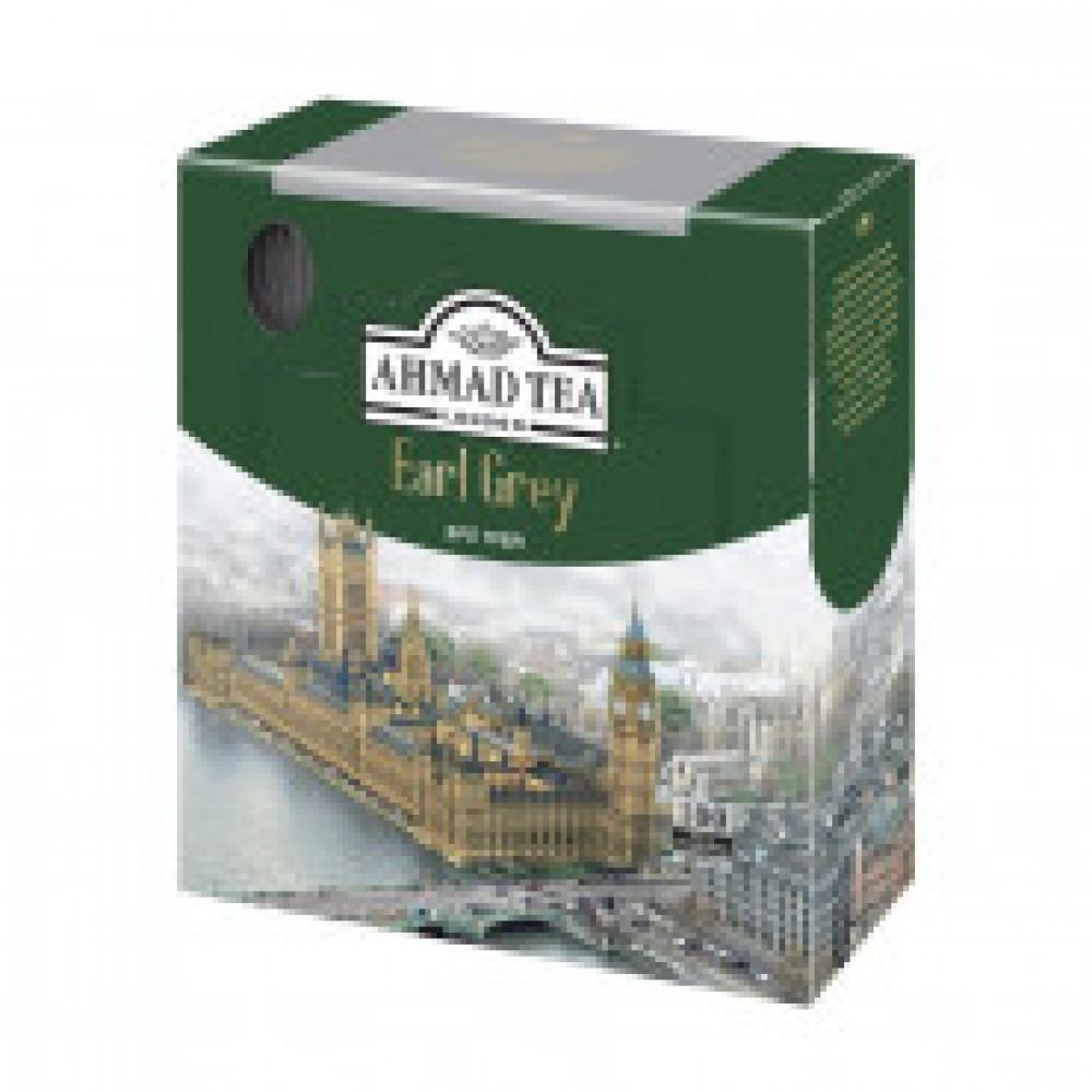 Чай Ahmad Earl grey черн.бергам100пак/уп60864