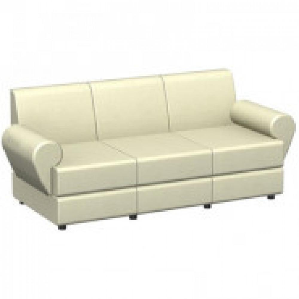 Мягкая мебель EF_Эйр (Matrix)диван 3 мест.к/з св-беж.Ec.3015/Р2euroline 907