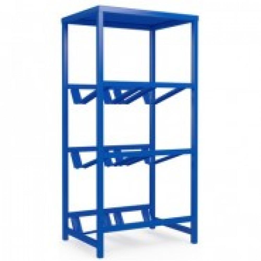 Метал.Мебель KD_Бомис-6П Стеллаж для воды бутилир. на 6 тар